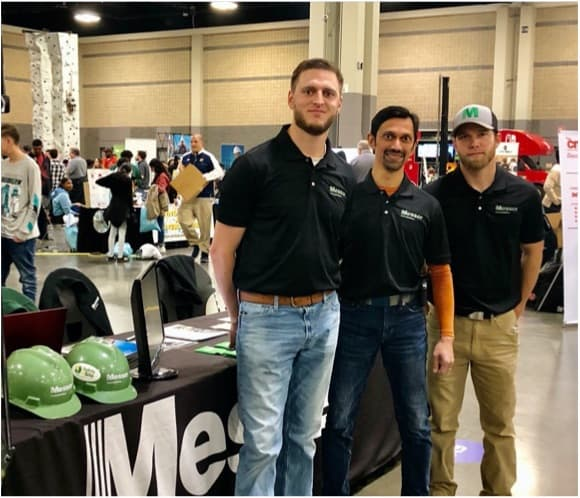 working the Messer booth at the Career Fair
