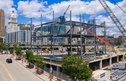 Andrew J. Brady ICON Music Center construction in Downtown Cincinnati