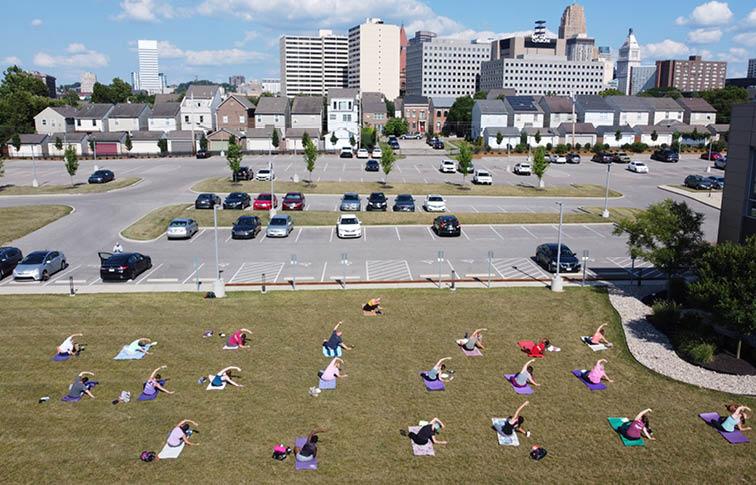 Yoga at 643